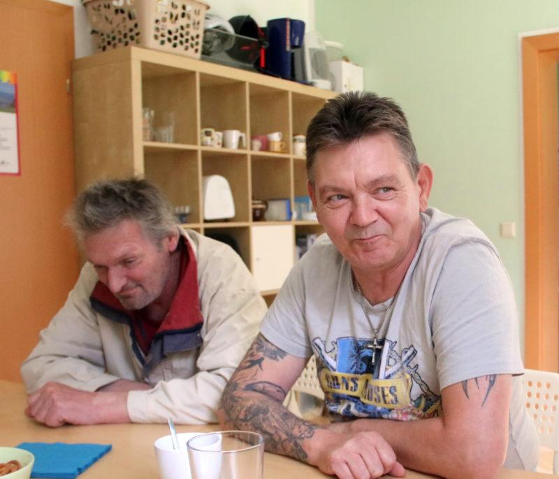 Erzählcafé mit ehemaligen Wohnungslosen